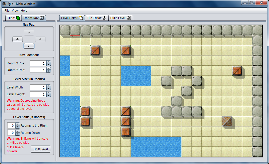 Egle now supports creating multi-room levels. (Room 2)
