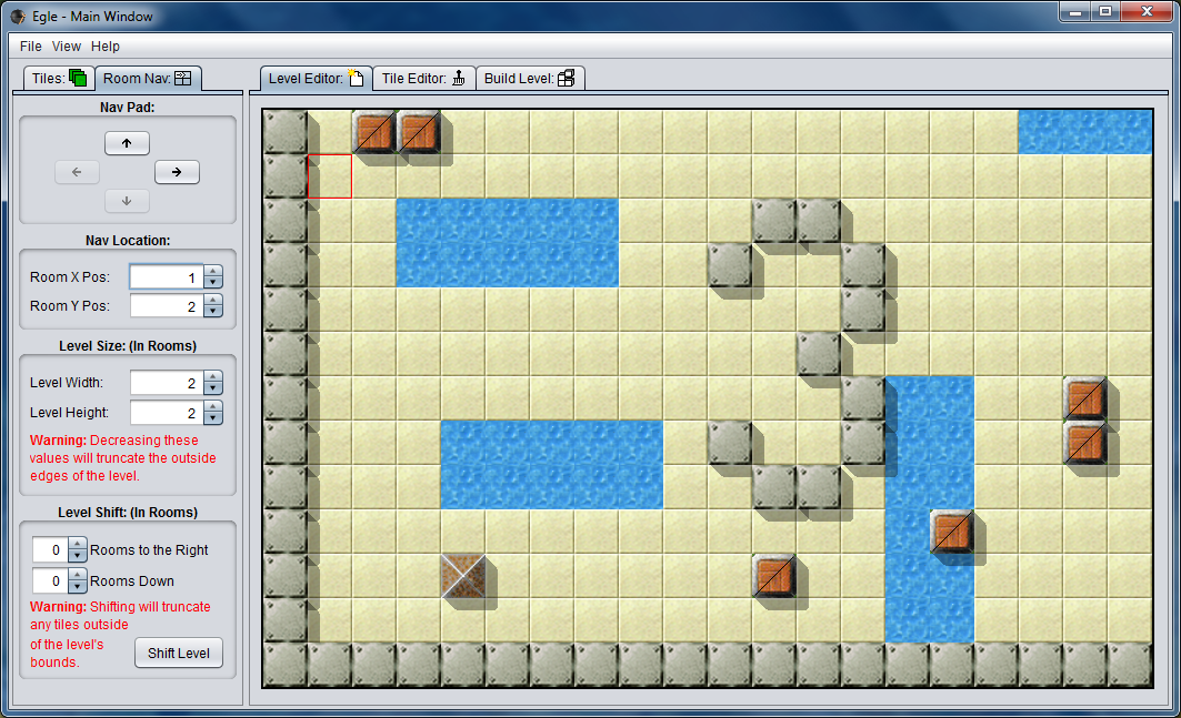 Egle now supports creating multi-room levels. (Room 3)