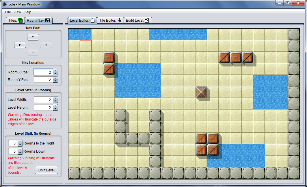 Egle now supports creating multi-room levels. (Room 4)